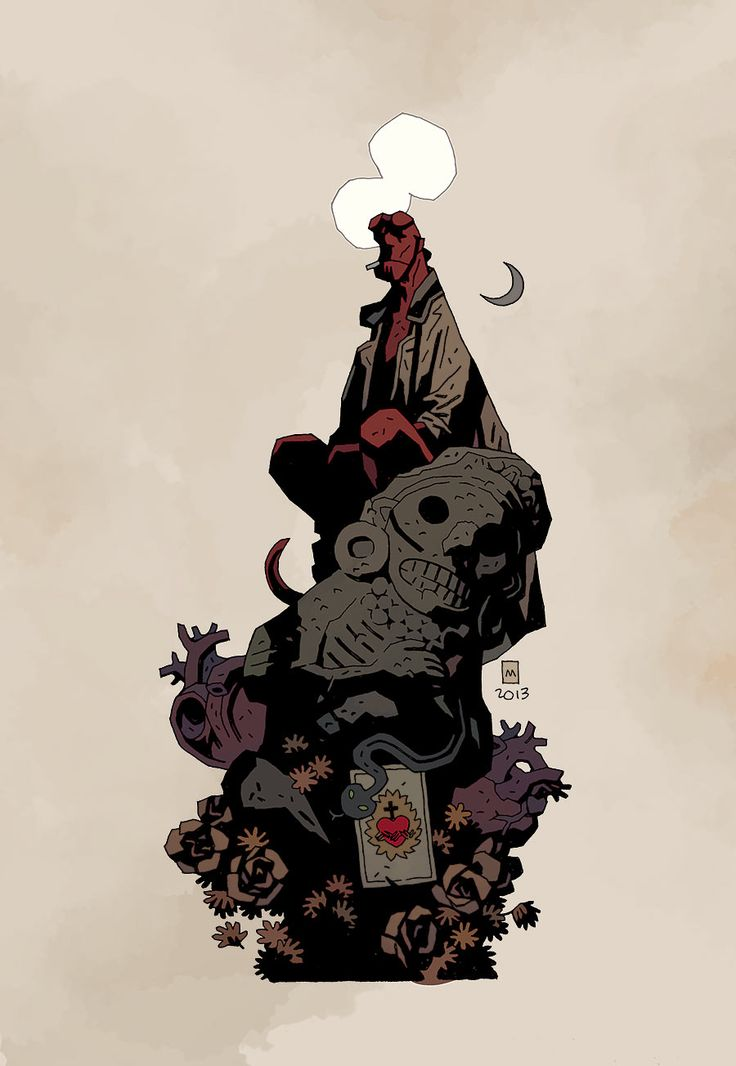 Cover art for Dark Horse Presents, issue 31 by Mike Mignola