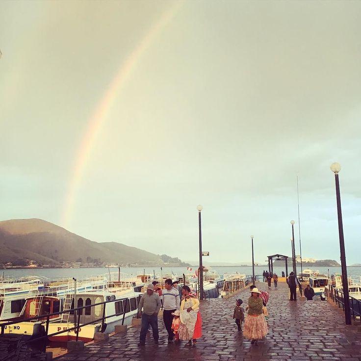 #trip #Peru #travel #南米 #チチカカ湖 #titicaca #rainbow #trippics by ry0ta.6