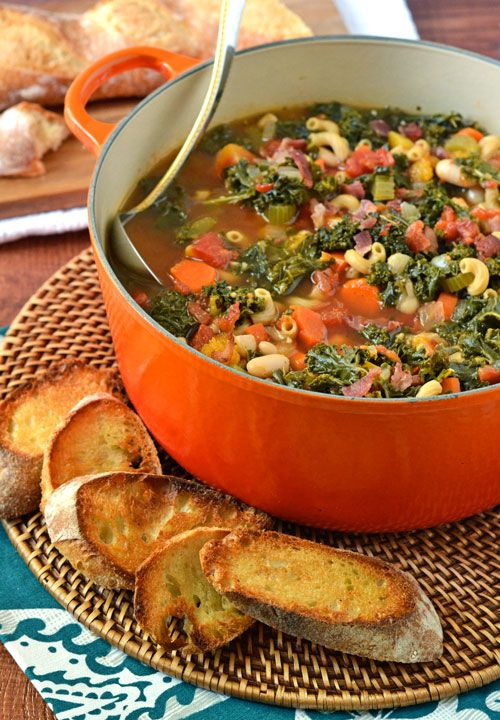 Minestrone Soup with Butternut Squash and Kale