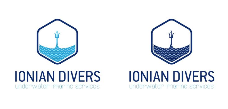Underwater services logo design - Underwater activities logo