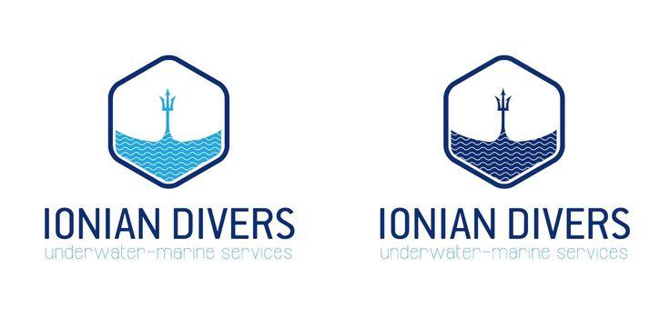 Underwater services logo design - Underwater activities logo