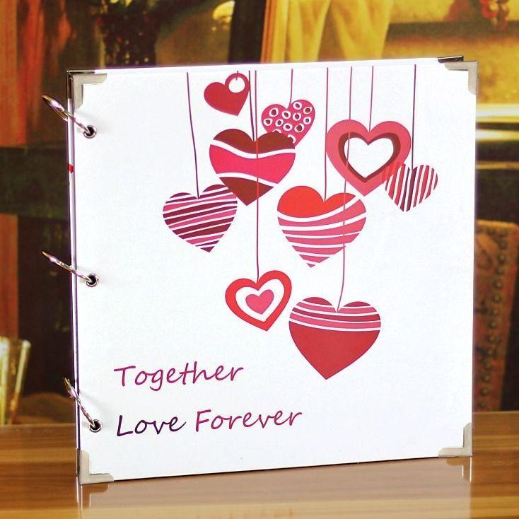 Loves Pendant Big Ring Binder DIY Photo Album Love Wedding Family