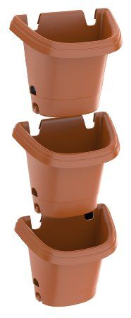 Fiskars 3 Piece Hanging Gardening System Planter, Color Clay (482121-1001) New item at our hardware store in Riverwest!