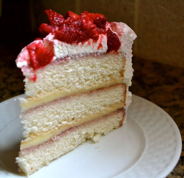 Wedding Cake Recipes From Scratch: Strawberry Shortcake Cake Trying To Find The Wheatfields