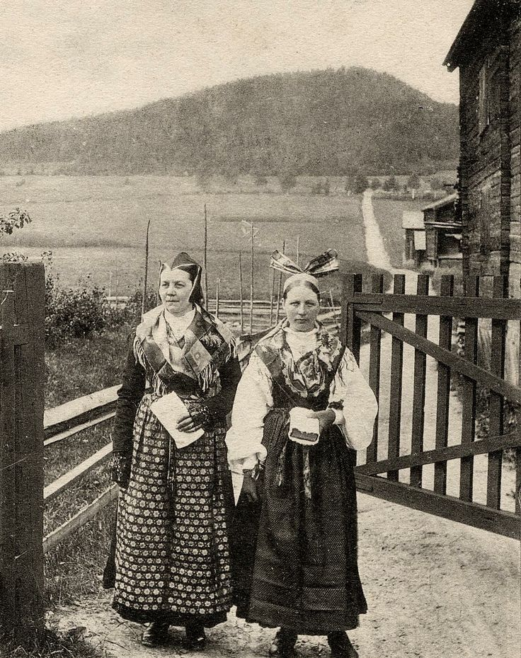 National custome from Järvsö, Hälsingland, Sweden about 1900