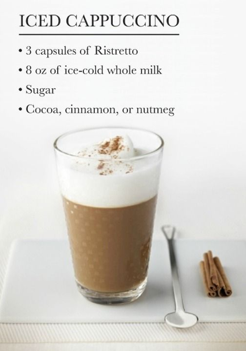 Put a spin on your favorite coffee creation with this recipe for an Iced Cappuccino.The fluffy froth that tops this chilled beverage is sure to add a refreshingly sweet start to your day.