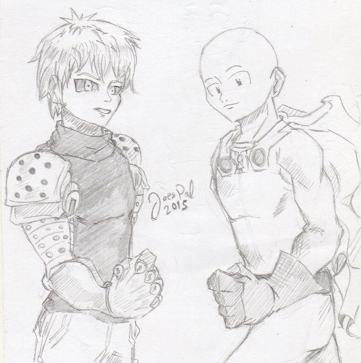 Saitama and Genos of One Punch Man, fanart by Joes Pal.