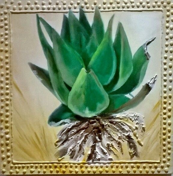 ALOE , on canvas.