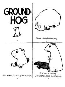 groundhog day printable coloring page