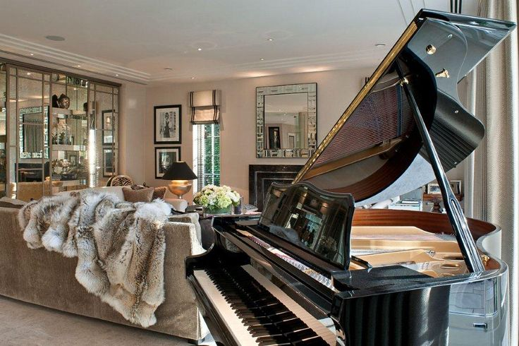 Stunning Living Space With Self Playing Baby Grand Piano