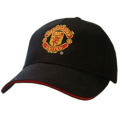 MANCHESTER UNITED Embroidered Black Cap. One Size. Official Licensed Manchester United cap. FREE DELIVERY ON ALL OF OUR GIFTS