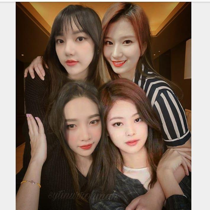 Park Soojoyi V Instagram Cecan Ngumpul Parksooyoung Kimjennie Jungyerin Sana 96line