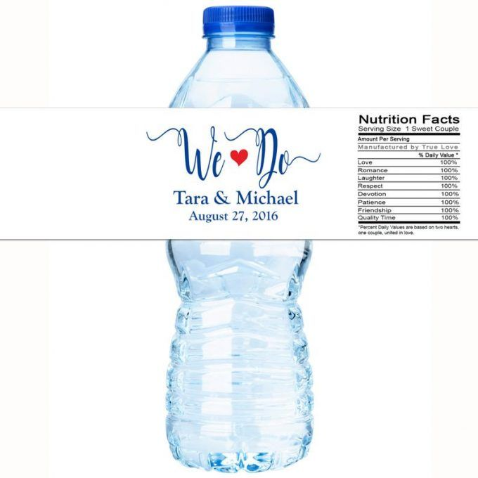 Bottled Water Wedding Tips Where To Buy In Bulk Emmaline Bride Wedding Water Bottles Water Bottle Labels Wedding Bridal Shower Labels