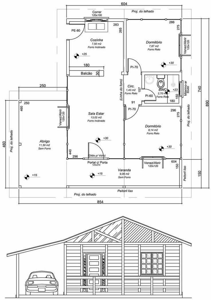 10 tipos de plantas de casas de madeira                                                                                                                                                      Mais