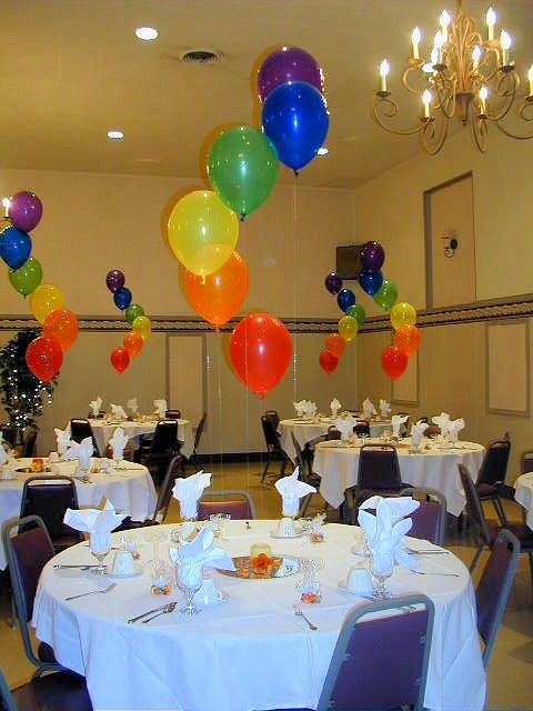 Spiral Rainbow Balloon Centerpieces In 2019 Rainbow