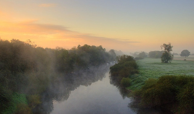 Sunrise over the River Severn, Worcester
