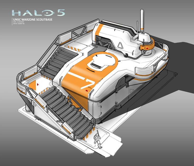 ArtStation - Halo 5 - Warzone Structures - Scout Base, Albert Ng