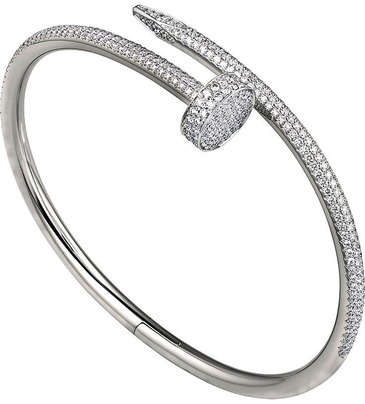 CARTIER - Juste un Clou 18ct or blanc et bracelet de diamants   Selfridges.com