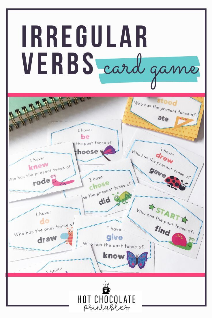 Irregular Verbs Game Past Simple English Vocabulary Games