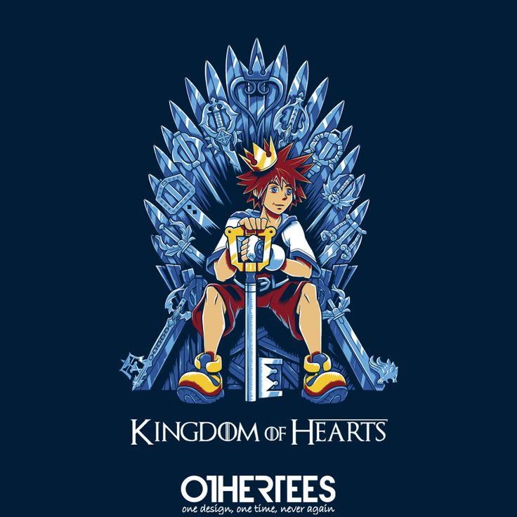 """Kingdom of Hearts"" by Nemons on sale until September 2nd at Othertees.com Pin it for a chance at a FREE TEE! #kingdomhearts #gaming #nintendo #ps2 #playstation #othertees"