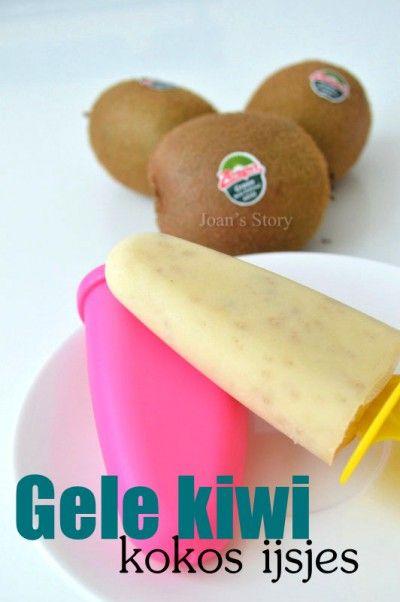 Gele kiwi kokos ijsjes
