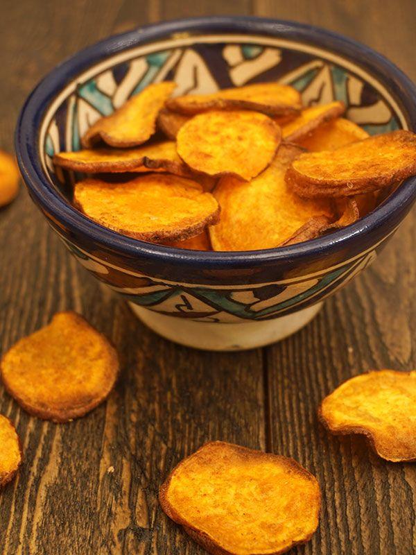 SNACKTIME: Zoete aardappelchips met paprikapoeder - Great Little Kitchen