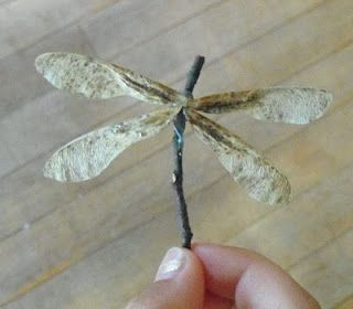 Twig and maple leaf dragonfly craft: Outdoor Wreaths, Maple Trees Seeds, Maple Keys, Seeds Dragonfly, Dragonfly A Twig, Twig Crafts, Dragon Flying, Maple Seeds, Delight Dragonfly A