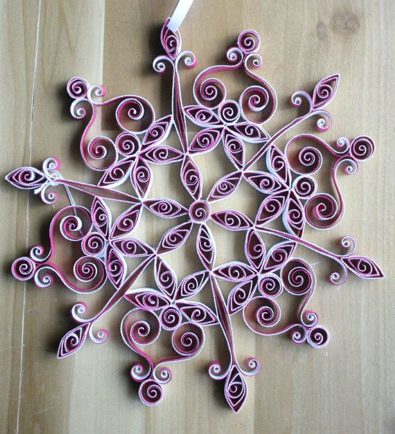 1451 best quilling snow flacks images on pinterest for Decoration quilling