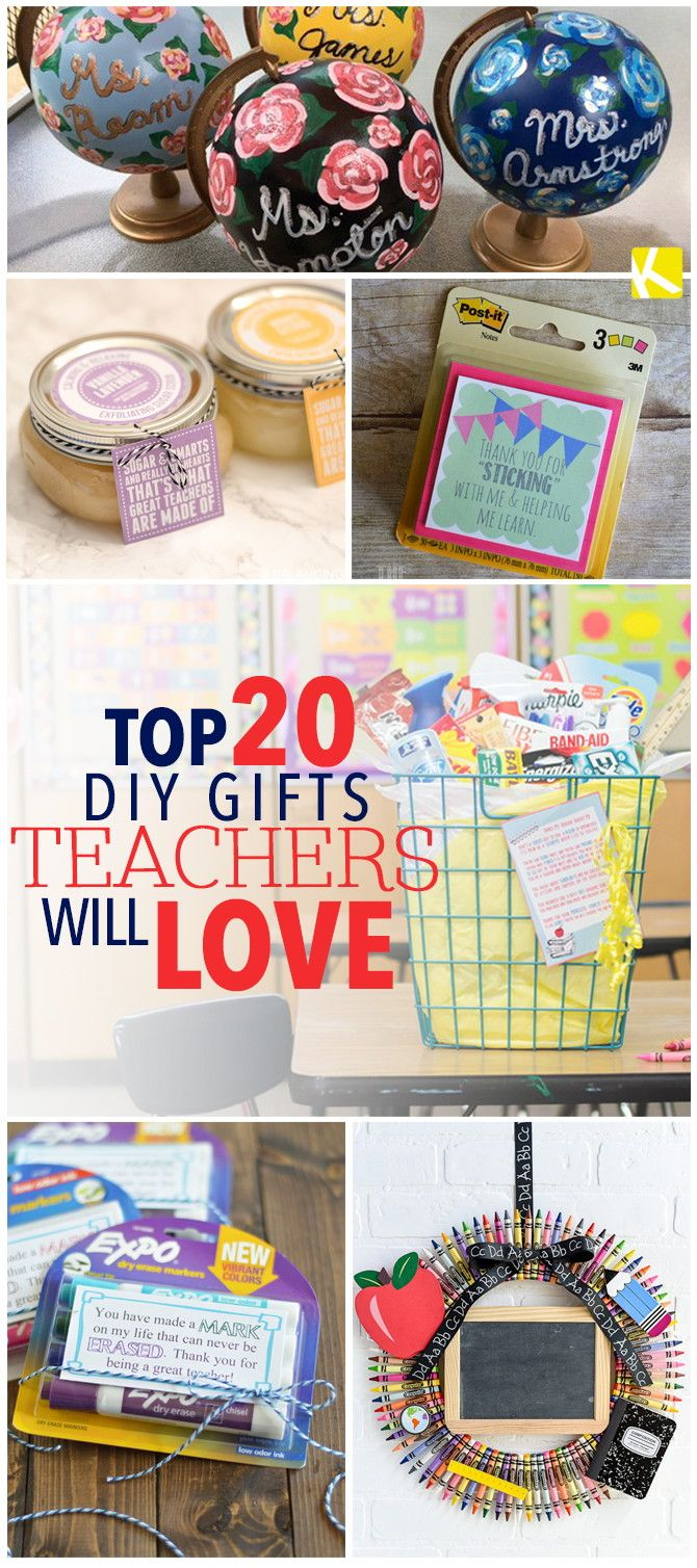 Top 20 DIY Gifts Teachers Will Love