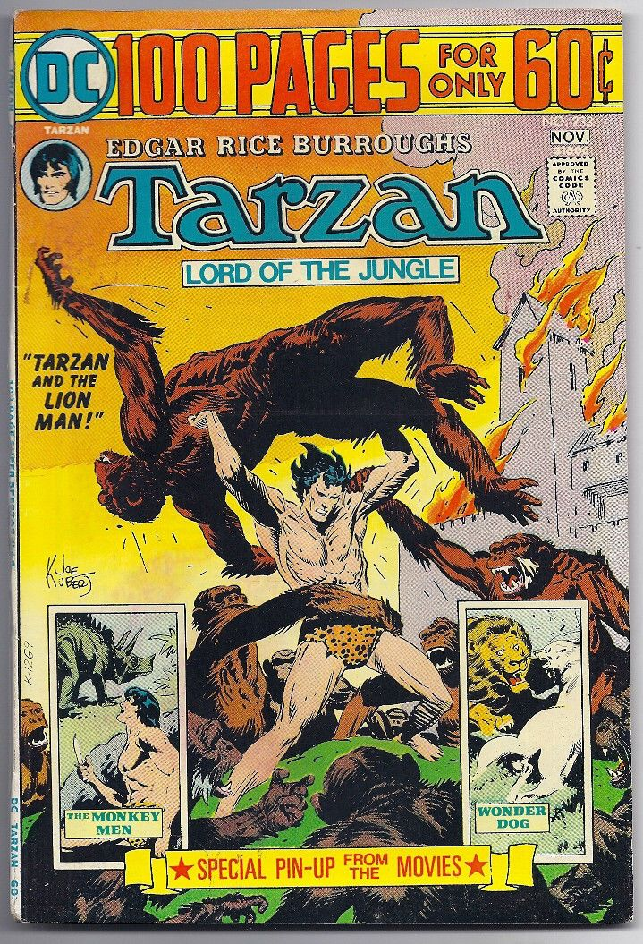(1974) TARZAN #233 DC 100-PAGE SUPER SPETACULAR JOE KUBERT ART! 4.5 / VG+ | eBay