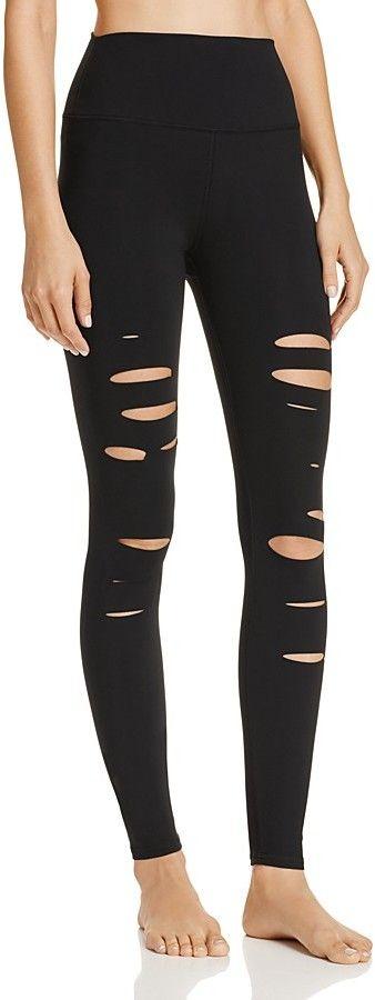 Alo Yoga High-Waist Ripped Warrior Leggings #shopstyle #affiliate