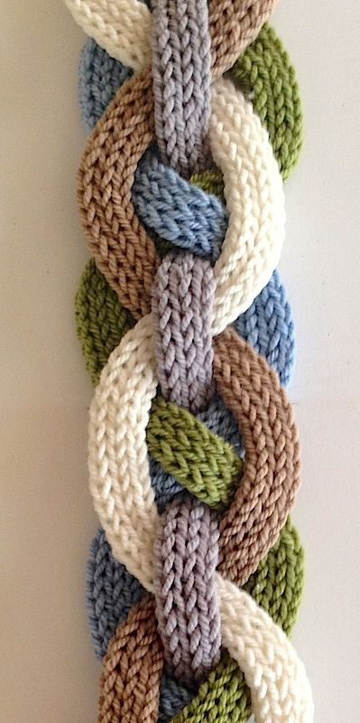 Iquitos Flat i-Cord Scarf By Laura Cunitz - Purchased Knitted Pattern - (ravelry)