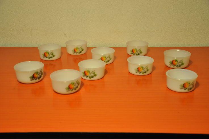 "Arcopal ""Fruits de France"" ramekins"
