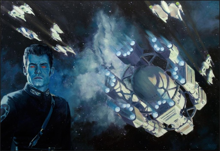 Cover art for 'Outbound Flight' featuring Thrawn, by Dave Seeley