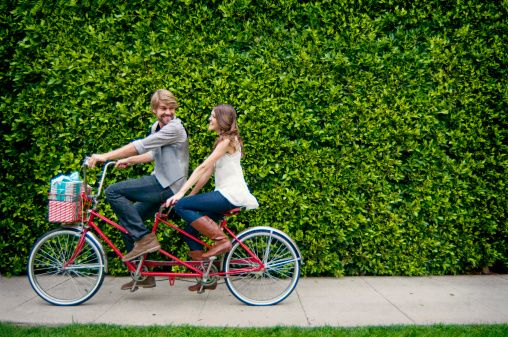 Good memories. I love tandem biking but I never get to ride in front because I'm too short : )