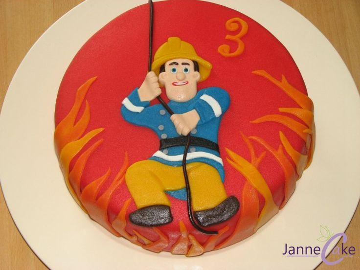 brandweerman sam taart - Google Search