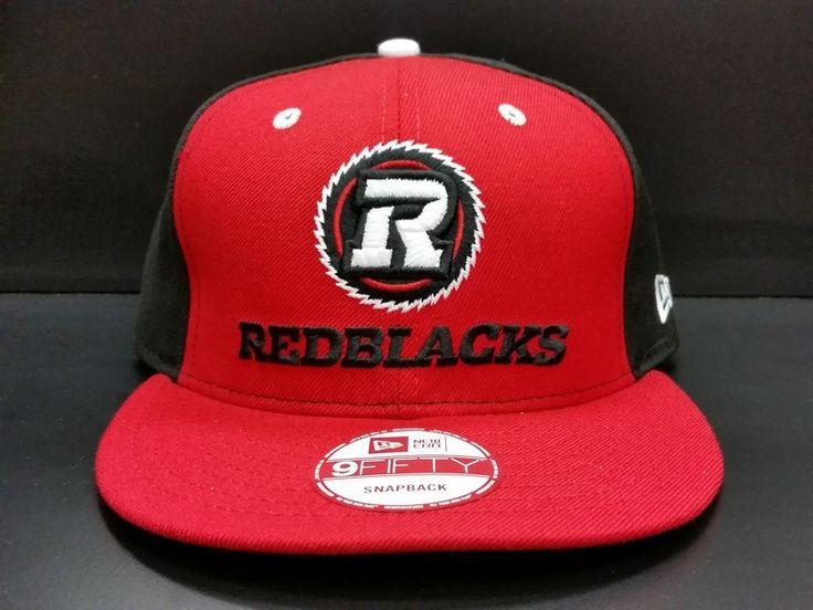 Ottawa Redblacks Snapback Exclusive Custom Red and Black