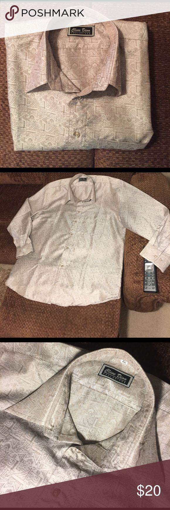 Men's Dress Shirt NWOT Never worn. A very neutral, classy shirt. Cline Dion Shirts Dress Shirts