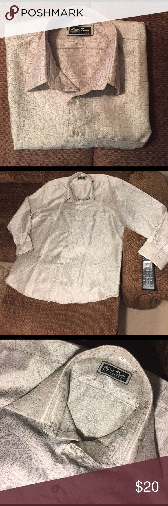 Men's Dress Shirt NWOT Never worn. A very neutral, classy shirt. Cline Dion Shirts Dress Shirts