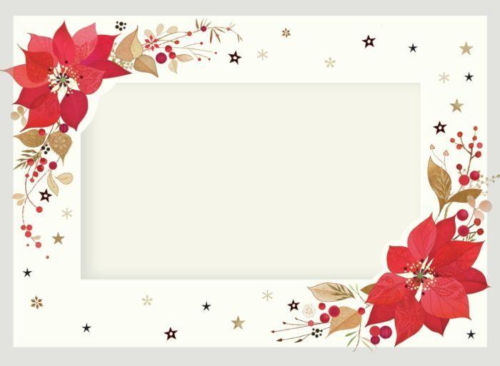 Lynn horrabin poinsettia photo frame for Poinsettia christmas tree frame