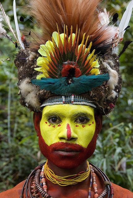 Painted face, Papua New Guinea