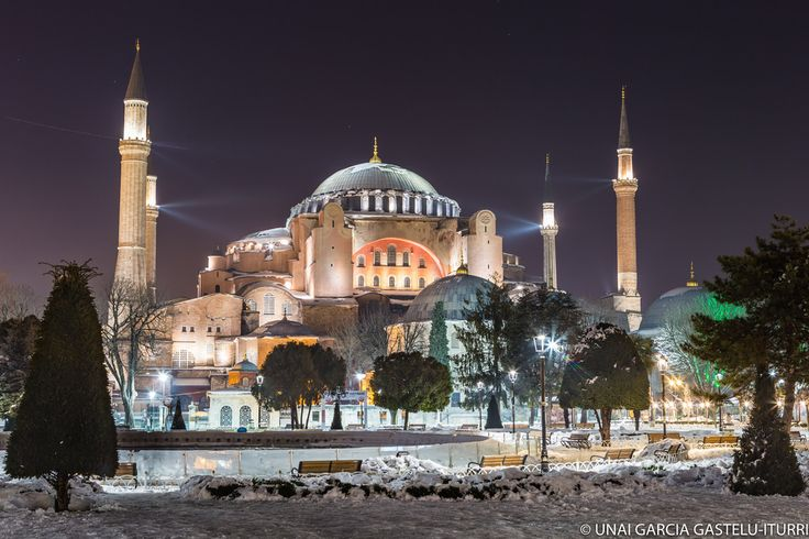 Good Night from Hagia Sofia // Photographer: Eriol 78  #hagiasophia #istanbul #turkey