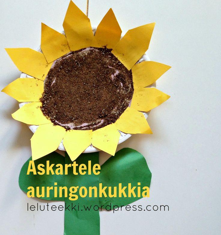 Auringonkukka-askartelua alkusyksyyn   http://blogi.leluteekki.fi #syksy #syysaskartelu #auringonkukka #askartelu #lapsille