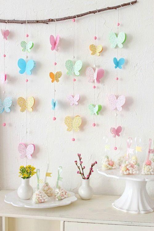 habitación para niña en 2 tonos de rosa con flores y mariposas - Buscar con Google