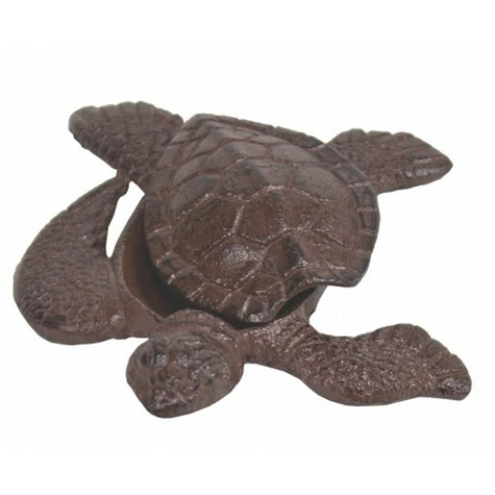 Handcrafted Model Ships MD-819 Rustic Cast Iron Turtle Hide A Key 5""