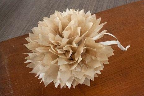 Per realizzare un fiore basta tagliare una striscia di giornale (il bordo) e successivamente ricavare tante piccole striscioline di 2 cm l'una, lunghe per 3/4 della larghezza del foglio (come mostra la foto).