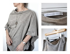 single seam poncho. Have made 2 and planning more. I love them. They are stylish, elegant and casual all at the same time