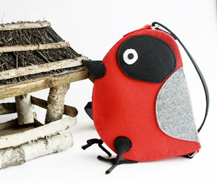 another hungry bird - bag for a little girl.