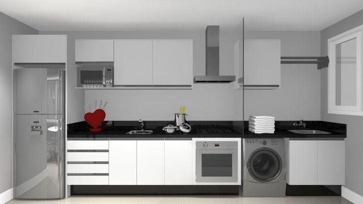 cozinha linear02voceprecisadecor.com.br