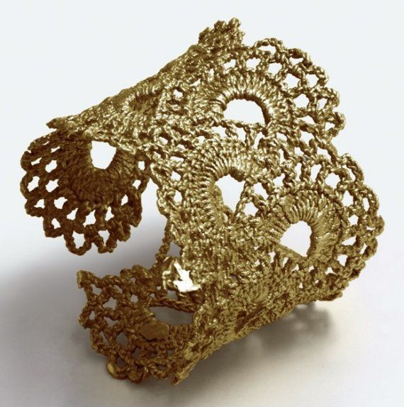 vintage lace cuff! can all beads to all or part of it~